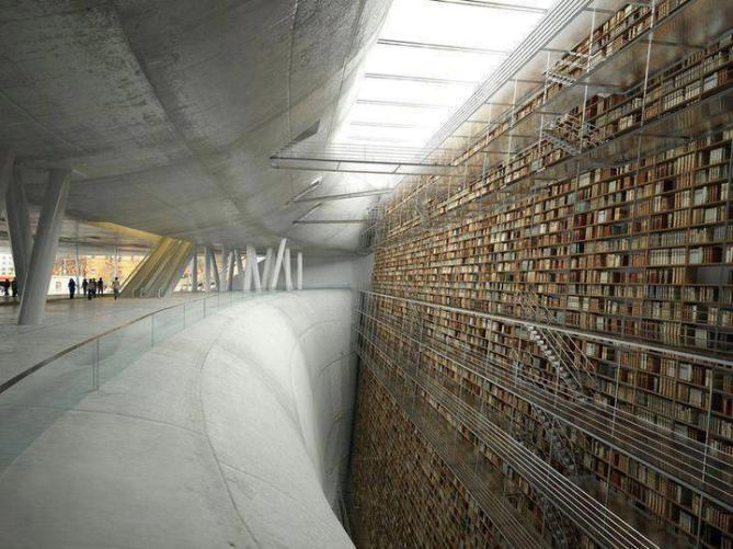 wall of knowledge Stockholm public library
